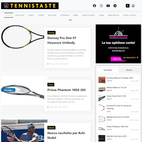 TENNIS TASTE<br><small>Blog Accessori da Tennis</small>